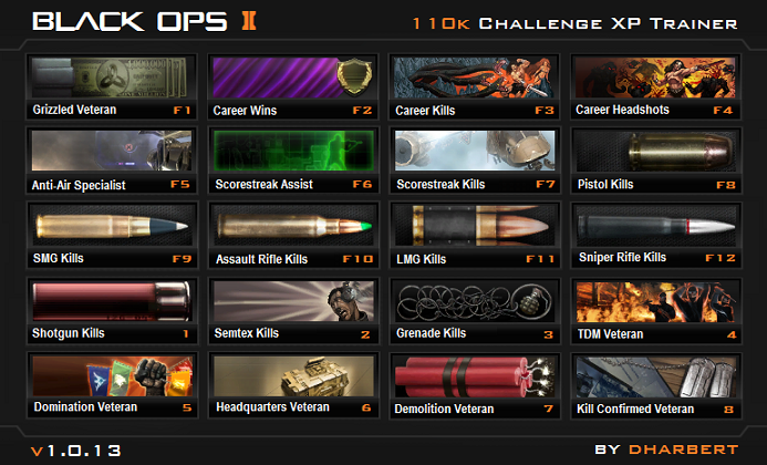 Call of duty Black Ops 2 - 110k XP Trainer