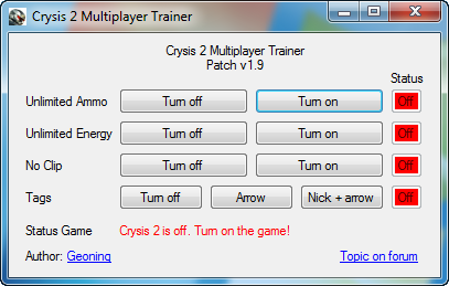 Crysis 2 Multiplayer Trainer